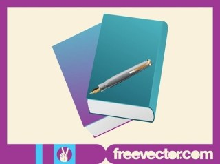 Books and Pen Free Vector