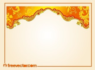 Border with Floral Scrolls Free Vector