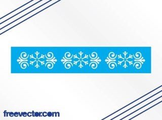 Border With Snowflakes Free Vector