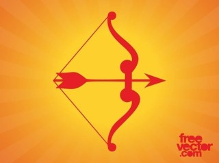 Bow and Arrow Free Vector