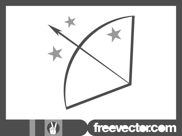 Bow and Arrow Icon Free Vector