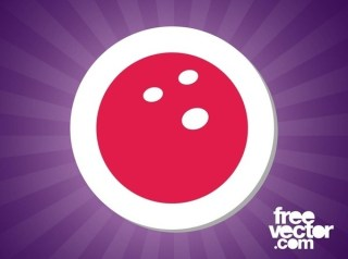 Bowling Sticker Free Vector