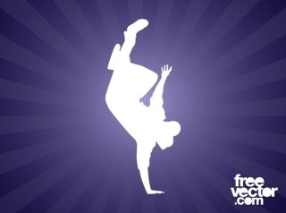 Breakdancer Silhouette Free Vector