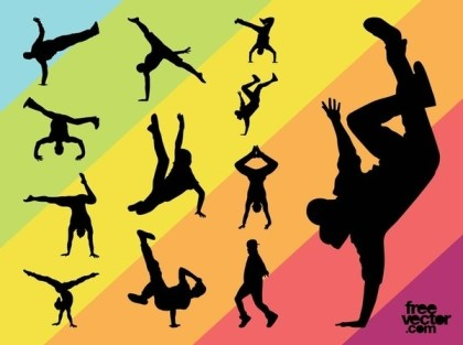 Breakdancers Set Free Vector