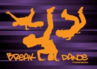 Breakdancing Free Vector