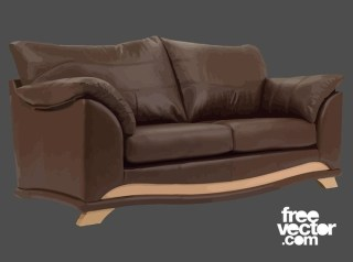 Brown Couch Free Vector