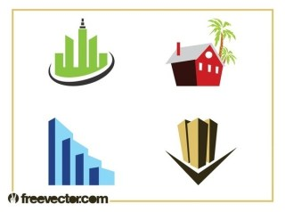 Hotel Buildings Set Free Vector