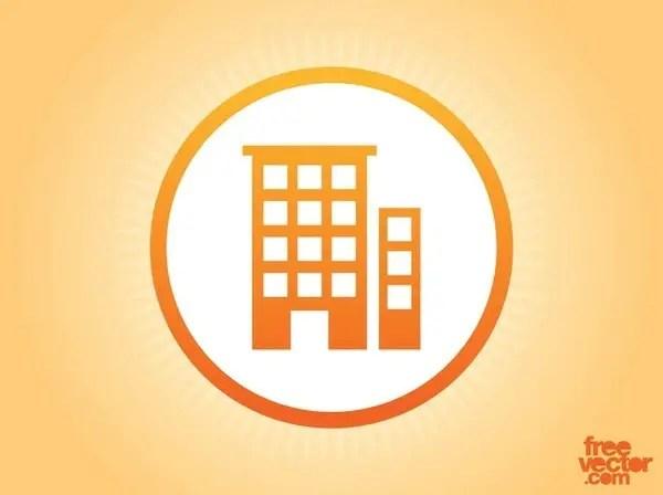 Buildings Icon Free Vector