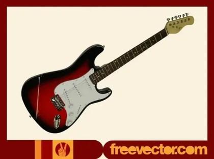 Burgundy Electric Guitar Free Vector
