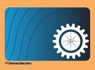 Business Card With Gear Free Vector