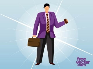 Business Man Free Vector