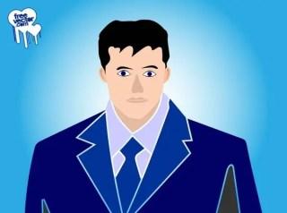 Businessman Portrait Free Vector
