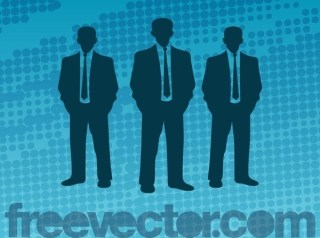 Businessmen Silhouettes Free Vector