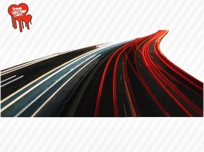 Busy Highway Free Vector