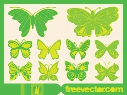 Butterflies Free Vector