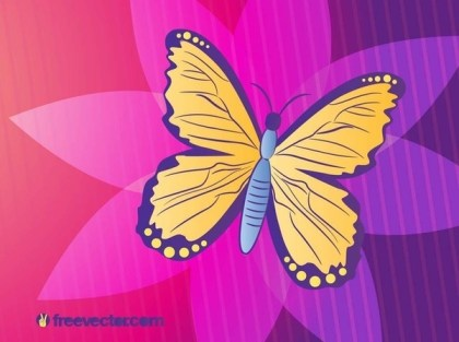Butterfly Illustration Free Vector