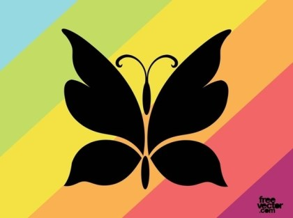 Butterfly Silhouette Free Vector