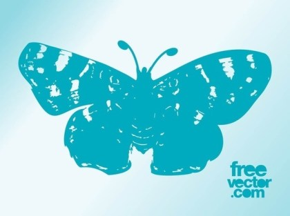 Butterfly Trace Free Vector