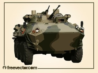 Camouflage Tank Free Vector