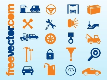 Car Icons Free Vector