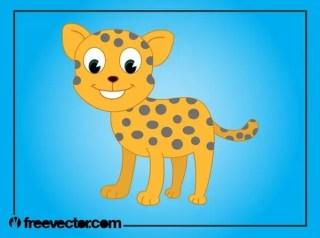 Cartoon Baby Cheetah Free Vector