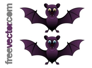 Cartoon Bats Free Vector