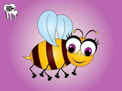 Cartoon Bee Character Free Vector