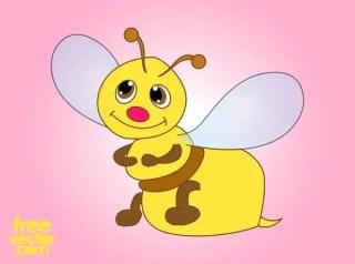 Cartoon Bee Free Vector