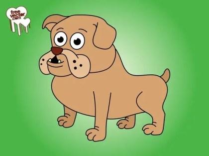 Cartoon Bulldog Free Vector