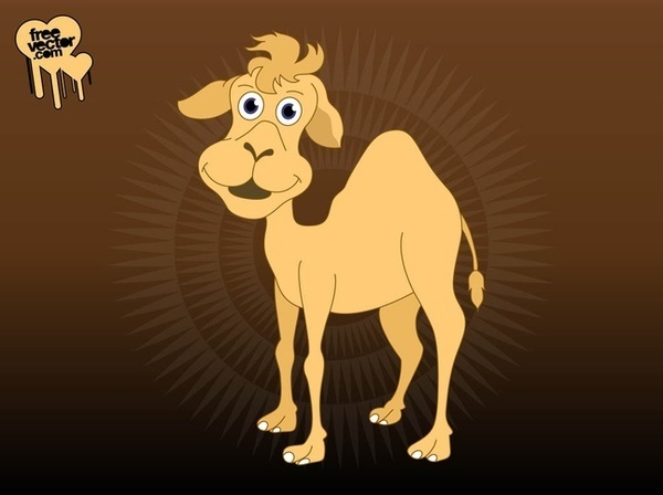 Cartoon Camel Free Vector