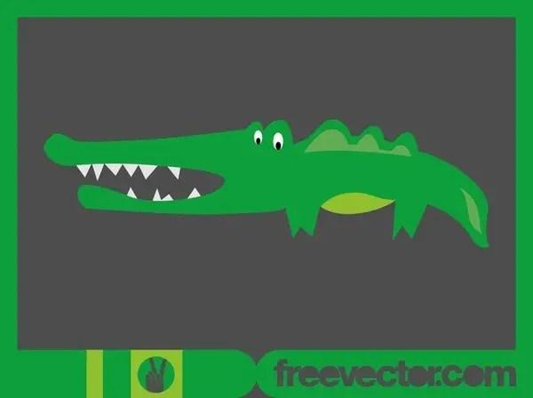 Cartoon Crocodile Free Vector