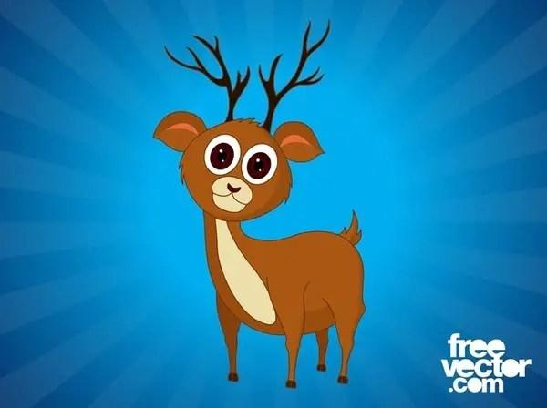 Cartoon Deer Free Vector