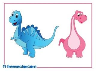 Cartoon Dinosaurs Free Vector