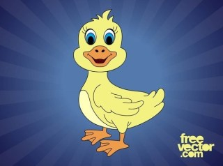 Cartoon Duck Free Vector