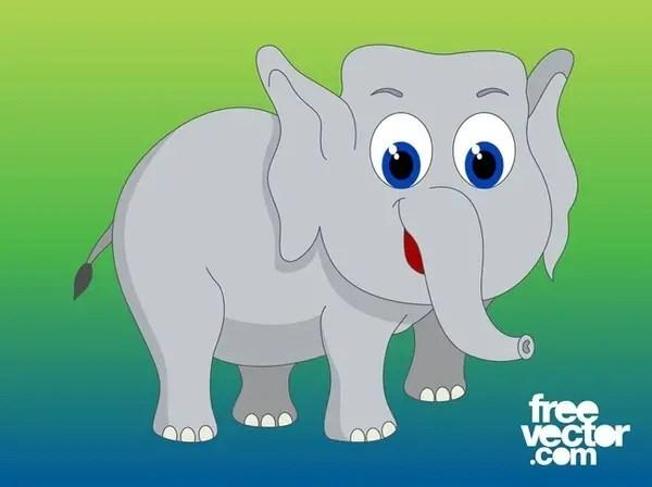 Cartoon Elephant Free Vector