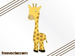 Cartoon Giraffe Image Free Vector