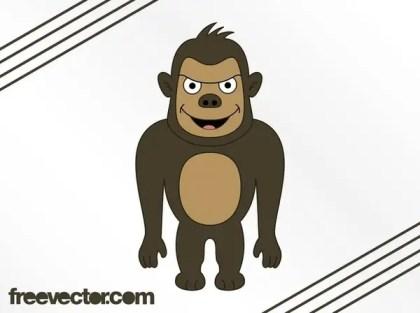 Cartoon Gorilla Free Vector