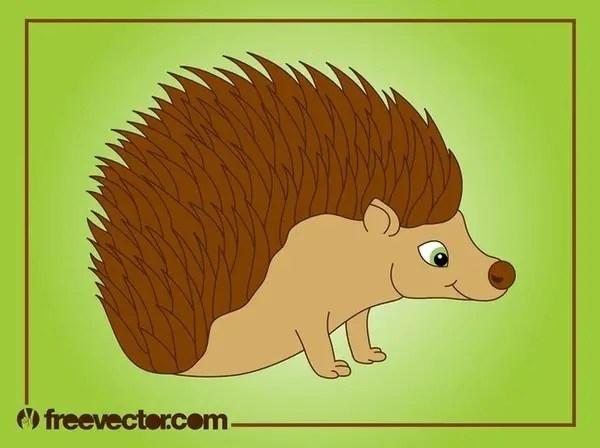 Cartoon Hedgehog Free Vector