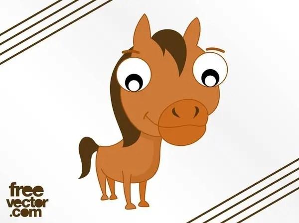 Cartoon Horse Free Vector