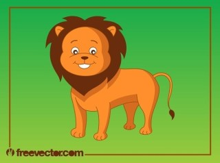 Cartoon Lion Free Vector