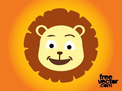 Cartoon Lion Head Free Vector