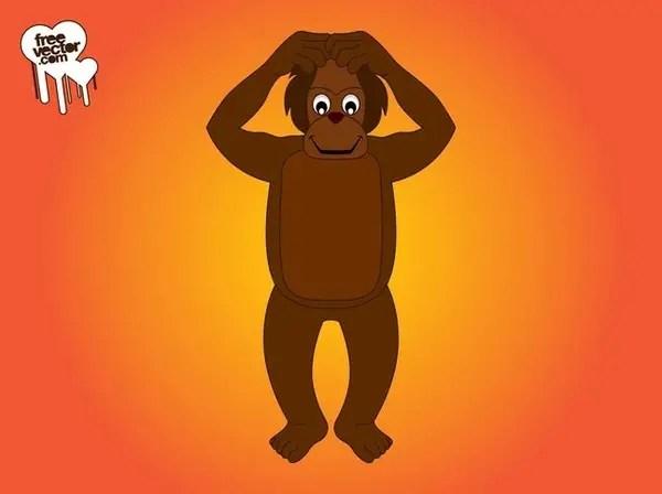 Cartoon Monkey Character Free Vector