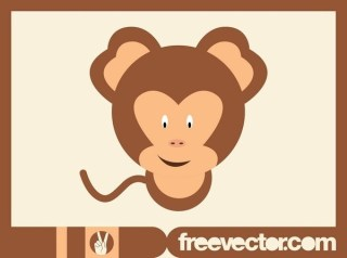 Cartoon Monkey Free Vector