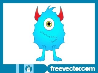 Cartoon Monster Character Free Vector