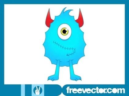 Cartoon Monster Character Free Vector