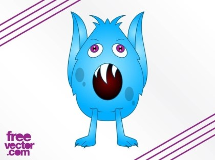 Cartoon Monster Design Free Vector