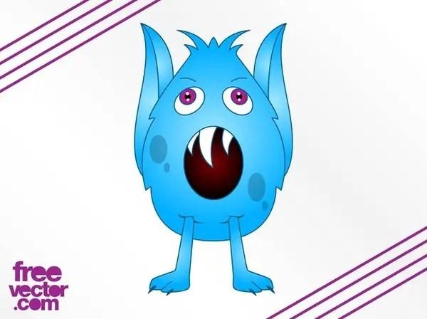 Cartoon Monster Design Free Vector