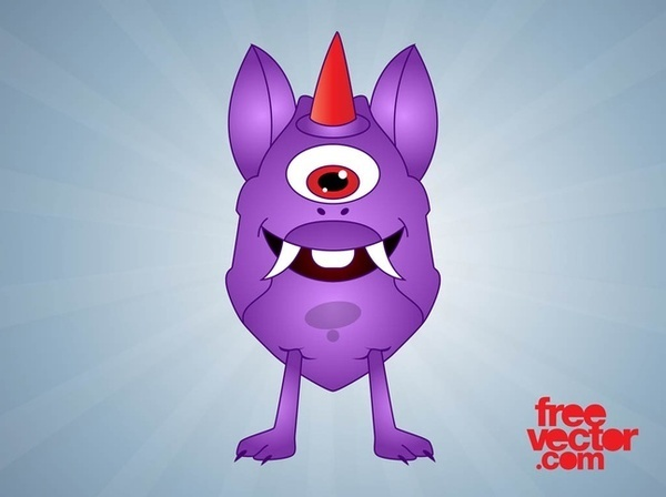 Cartoon Monster Free Vector