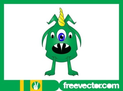 Cartoon Monster Image Free Vector