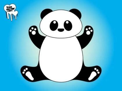 Cartoon Panda Free Vector